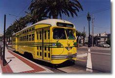 San Francisco historic streetcar: The F-line on the Embarcadero.