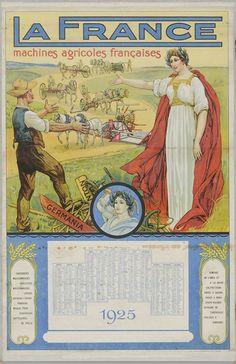 Affiche ventant les machines agricoles françaises, 1925.