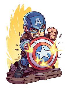 Dc Universe 826762444069733020 - Chibi Cap Civil War Print — Derek Laufman Source by lejuspresse Marvel Comics, Chibi Marvel, Marvel Cartoons, Marvel Art, Marvel Heroes, Chibi Superhero, Marvel Drawings, Cartoon Drawings, Cartoon Art