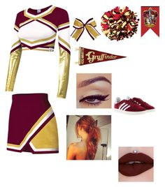A fashion look from March 2017 featuring Chassè, red sneakers and jeffree star lipstick. Browse and shop related looks. Harry Potter Dress, Harry Potter Shirts, Harry Potter Room, Harry Potter Outfits, Harry Potter Hogwarts, Cheer Practice Outfits, Cheer Outfits, Cheerleading Outfits, Harry Potter Comics