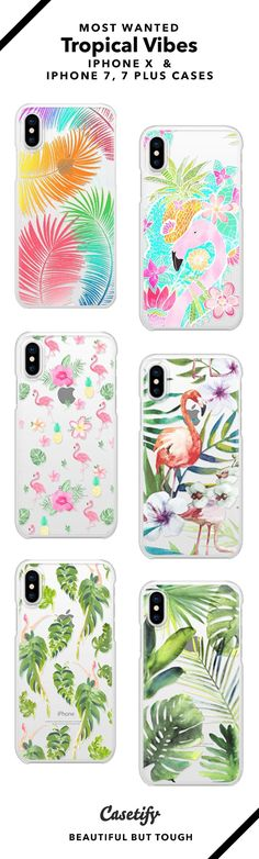 Feel the tropical vibes! 15 Most Wanted Tropical iPhone X, iPhone 7 Cases and iPhone 7 Plus Cases - Shop them here & BEAUTIFUL BUT TOUGH & - neon, tropical flowers, botanical, flamingo Girly Phone Cases, Iphone 7 Cases, Phone Covers, Iphone 8 Plus, Tropical Vibes, Tropical Flowers, Macbook Case, Cute Cases, Tablets