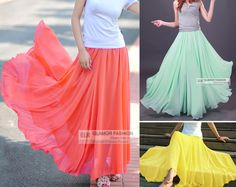 I LOVE the mint green one. Not sure I can justify spending $40 on it though. Full Circle Chiffon Skirt Long Skirt XS 3XL GF0681 | eBay