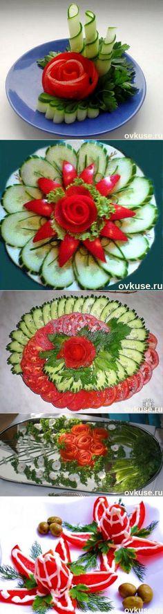 ▲Красивая подача овощных нарезок▲ | КУХНЯ | Постила