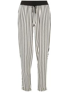 Black and ivory stripe joggers