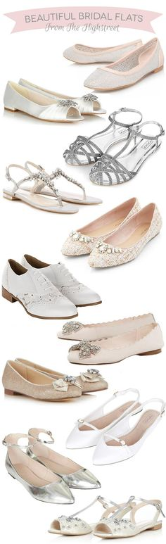 Beautiful Flat Bridal Shoes from The Highstreet | www.onefabday.com