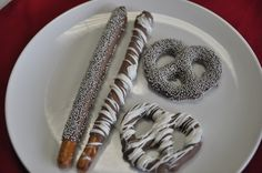 I know how to make chocolate covered pretzels. I make them every Christmas. Even if not for this party, I love the silvered coloring - I can try that this Christmas. :D