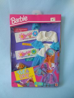 1993 Mattel Barbie TIE & DYE FASHIONS SKIRT TIE TOP nrfb box  11279 #Mattel