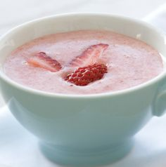 Ever had a cold soup? They're so refreshing in the summertime. Chilled Strawberry Soup would be a nice way to end a meal, wouldn't it?