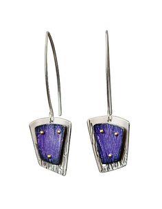 Long Flicker Earrings: Deb Karash: Silver Earrings - Artful Home