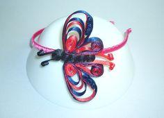 Návod na čelenku zdobenou quillingovým motýlem ze stuhy
