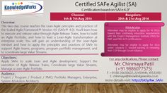 Certified SAFe Agilist (SA) Certification based on SAFe V4.0 6th & 7th Aug 2016 @ Chennai 20th & 21st Aug 2016 @ Bangalore WebURL : http://www.bit.ly/kw_SAFe Contact : Chinmaya S Patil ( 9886077575 )