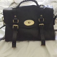 Black Alexa Satchel Bag 100% leather. Used but in great condition. Leather is nice and soft. Bags Satchels