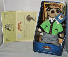 Maiya Compare The Meerkat / Market Toy, in Box and Sealed with Tag and Paperwork
