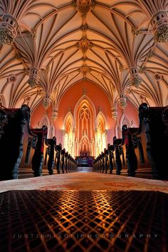 BEAUTIFUL inside of Gothic Vaulted Ceiling inside of church FROM: Dishfunctional Designs: Palette: Coral JUSTINNIXON/PHOTOGRAPHY