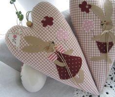 Osterhasen - Osterhase/Herz im Landhaus-Stil - ein Designerstück von Feinerlei bei DaWanda