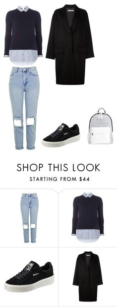 """""""Everyday Wear"""" by awksilence on Polyvore featuring Topshop, Dorothy Perkins, Puma, Givenchy and Poverty Flats"""