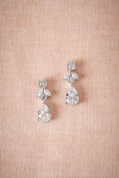 Petite Crystal Drops in Bride Bridal Jewelry at BHLDN
