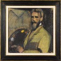 A self portrait by Paul Alexandre Alfred Leroy