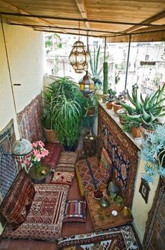 kilims, plants & lanterns