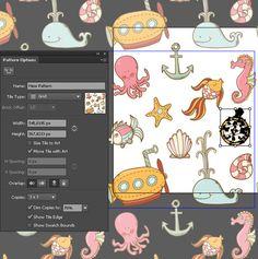 Seamless Seascape in Adobe Illustrator