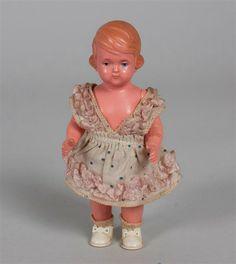 Puppenstubenpuppe, Schildkröt, gemarkt 13 1/2/14, 1933/34