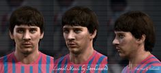 Lionel Messi face for Pro Evolution Soccer 2012 Pro Evolution Soccer, New Face, Lionel Messi, Faces, Fictional Characters, The Face, Fantasy Characters, Face