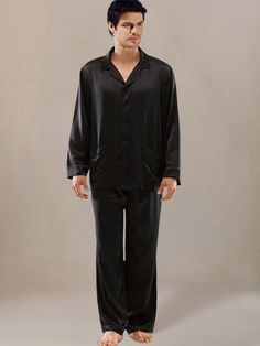 Master's masked men's silk pajamas pants with matching robes ...