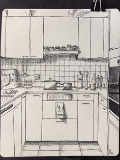 Kunstjournal Inspiration, Sketchbook Inspiration, Pencil Art Drawings, Art Drawings Sketches, Arte 8 Bits, Love Doodles, Simple Doodles, Perspective Sketch, Interior Design Sketches