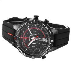 f25735555c6 2018 Hot Timex Pánské hodinky Inteligentní křemenný světelný odliv Temp  Compass Silikon 100m Vodotěsný venkovní sport