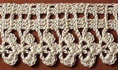 Schemi uncinetto: filet a trifoglio per un set di asciugamani
