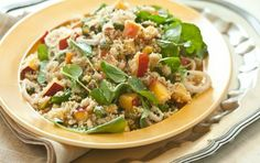 Couscous w/ nectarines and Pistachios