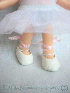 Lalaloopsy Littles  Ballet Slippers  White by AndLittleLambsEatIvy, $5.00