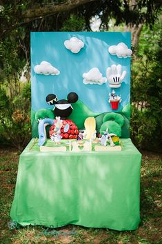 Mickey Mouse Clubhouse 1st Birthday Party Planning Ideas Decorations this is a clearer pic for behind candy table
