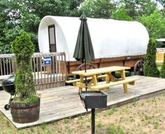 Campers can choose from nearly two dozen kinds of lodgings, including yurts, covered wagons, cabins and gazebos, at fun Smokey Hollow Campground, one of our favorite 24 Midwest campgrounds. Details:  http://www.midwestliving.com/travel/around-the-region/24-best-midwest-campgrounds/?page=25