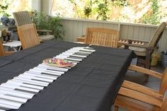 Music theme party table