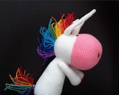 Handmade amigurumi unicorn an excellent stuffed by ittooktwo