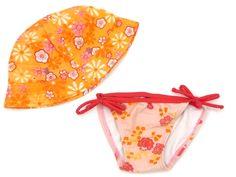 Kombination der Marke Hema, 2-tlg. für Mädchen: Badehose, Sommermütze, Größe: 80  holländische Mode  Anlässe: Baden, Sommer