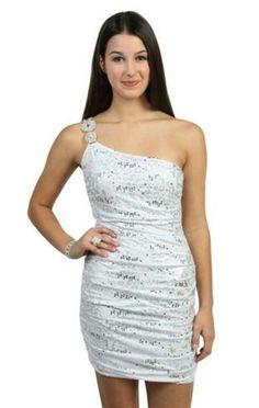 068bb31f3f3 ivory animal print metallic sequin one shoulder club dress bachelorette  party dress option 2