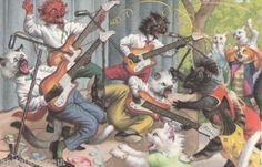 MAINZER-DRESSED-CATS-WITH GUITARS