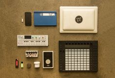 The tools of Nosaj Thing. I love this collection. It really is the essentials for making beats, or a Sunday afternoon spent well.