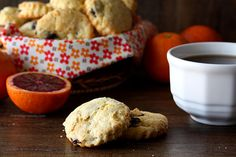 Simple Dried Cherry and Orange Scones to go with your tea or coffee