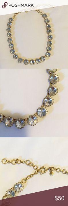 JCREW Crystal Venus Flytrap Necklace EUC EUC JCREW Crystal Flytrap necklace! JCrew Retail NOT factory!!! Worn twice! Goes with everything - a wardrobe staple! J. Crew Jewelry Necklaces
