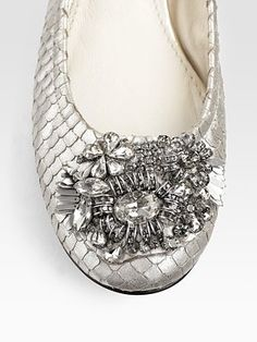 Vera Wang flats- like jewelry for your feet.