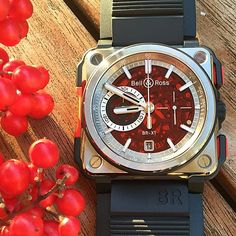 Check out this Boutique Edition Bell & Ross BR X1 that come with a RED sapphire dial.