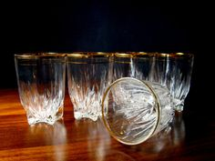 Vintage 8oz Gold Rimmed Cocktail or Juice by TheArmchairAntiquer