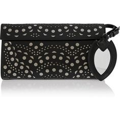 Alaïa Vienne Wave laser-cut leather clutch