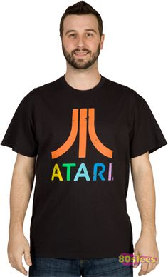Atari Classic JOYSTICK /& LOGO Licensed Adult Tank Top All Sizes