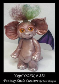 Art Doll Polymer Clay Fantasy Miniature Fairy Dragon OOAK