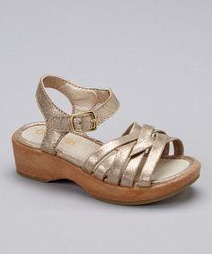 Love this OshKosh B'gosh Gold Sweety Sandal by OshKosh B'gosh on #zulily! #zulilyfinds