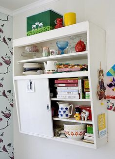 love the vintage cupboard
